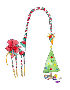 Giraffe Christmas Tree