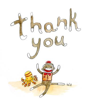 Sock Monkey Thank You
