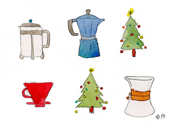 brewing equipment and christmas tree