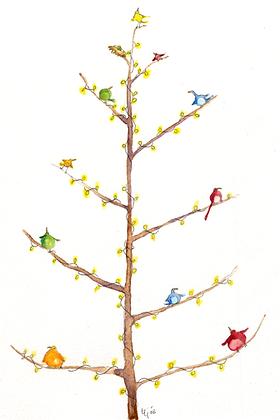 Birds Christmas Tree