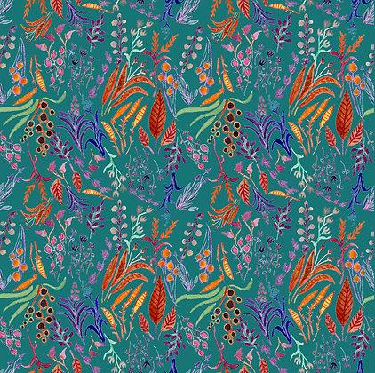 One Waxed Cotton Wrap 8x8 Wild Flowers