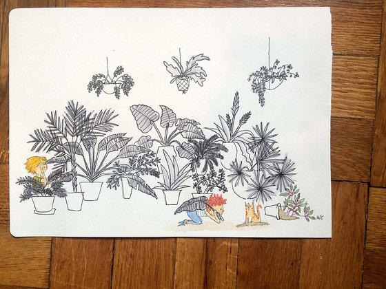 Original!! Kid hiding in Plants