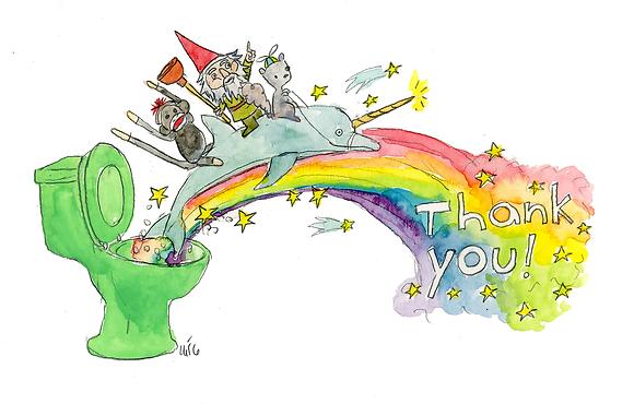 Thank You Rainbow Toilet