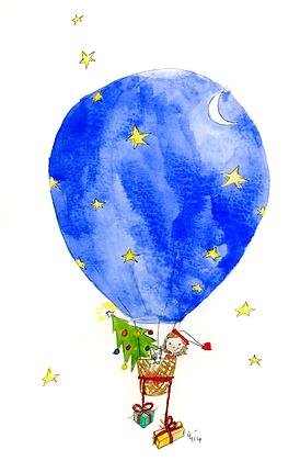 Christmas Hot Air Balloon