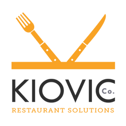 Kiovic restaurant solutions Logo with K-