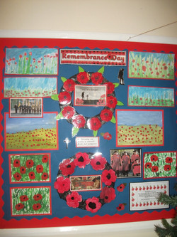 Remembrance day display in the Hall