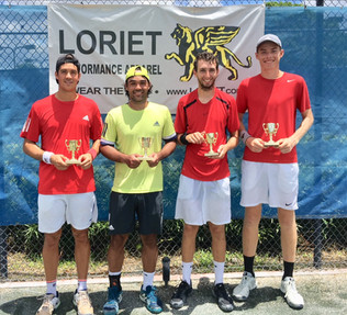 June 23-24 Doubles Champion Mena/Sucupira (left) and finalists Lewis/Bucarion (right)