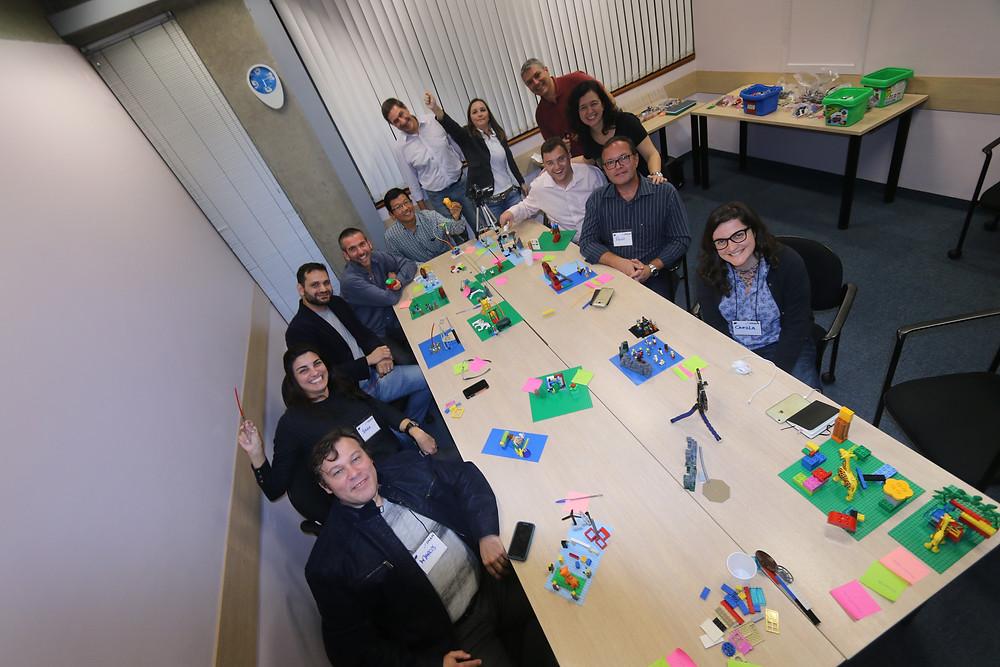 worfksho lego serious play startup you modelo de negócio pessoal ou de negócio