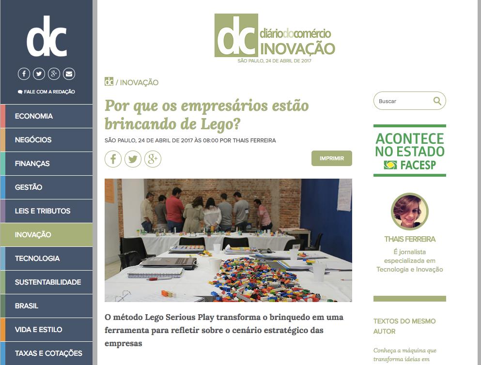 Lego Serious Play e Play in Company Diário do Comércio
