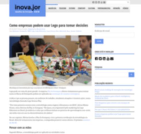 Matéria Jornal do Commercio Manaus LEGo Serious Play Play in Company