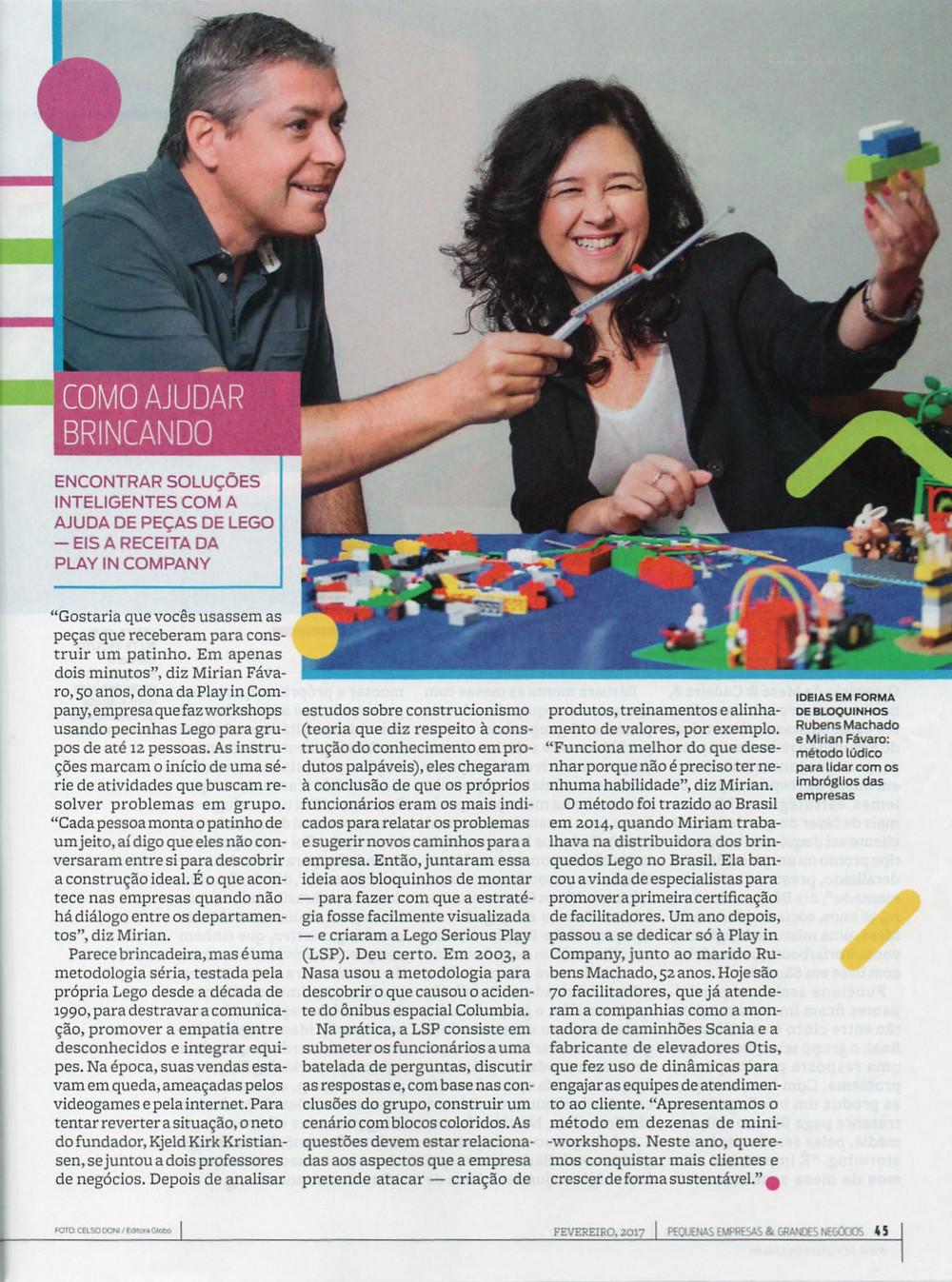 consultoria inovadora play in company lego serious play pequenas empresas grandes negócios