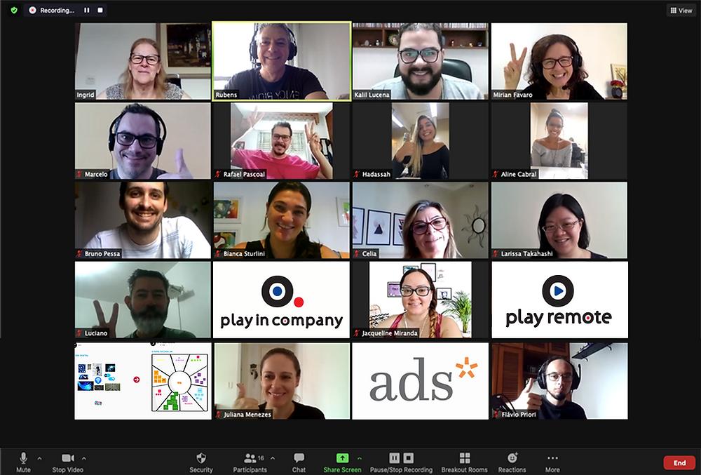 Workshop Online sobre Transformação Digital para o time da ADS Comunicação com Play Remote