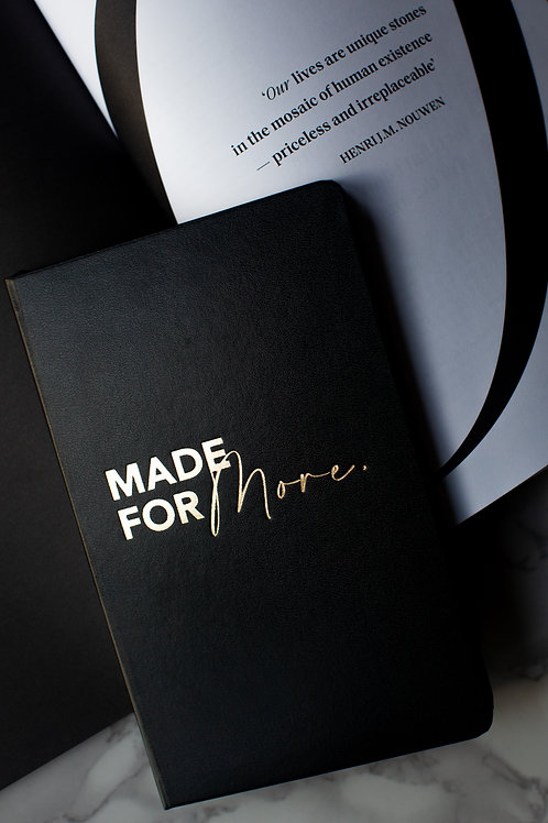 Black Made For More A5 Journals (Lined Paper)