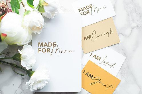 Bundle Gift Box - White MFM Journal + Affirmation Cards