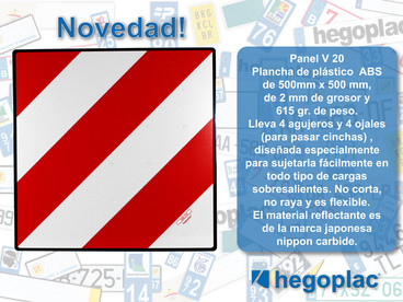 Nuevo Panel V-20 hegoplac