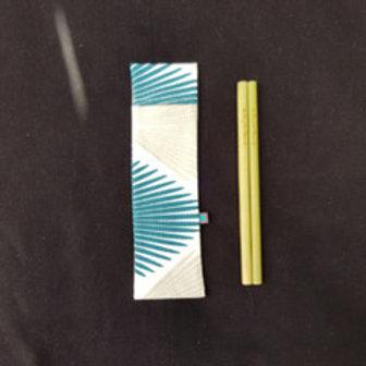 Pochette + 2 Pailles Bambou