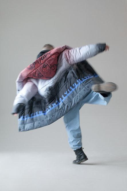 Унисекс длинная куртка свободного кроя