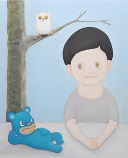 Self-portrait with blue bear