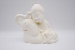 Elephant with girl