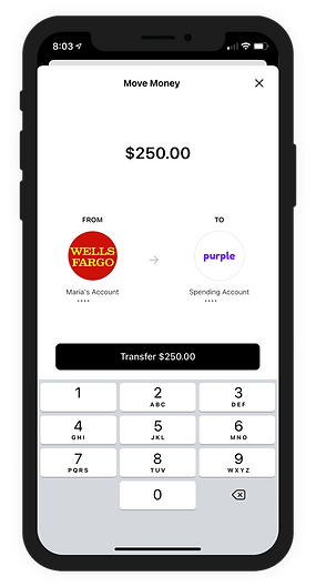Purple mobile banking app