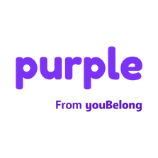 Purple from youBelong logo