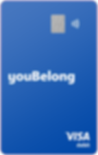 youBelong Cash Purple Visa Debit Card