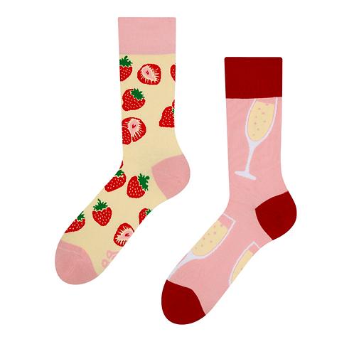 Good Mood Socks - Champagne & Strawberry