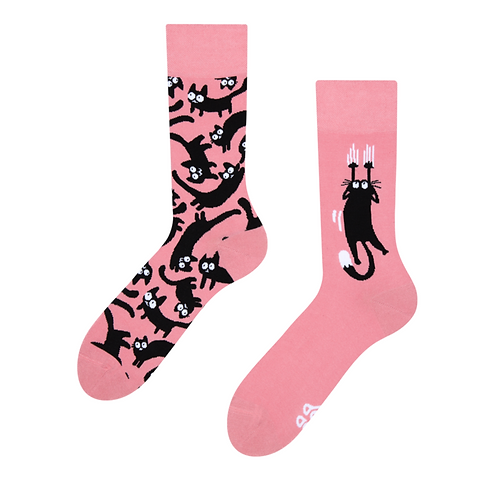 Good Mood Socks - Pink cats