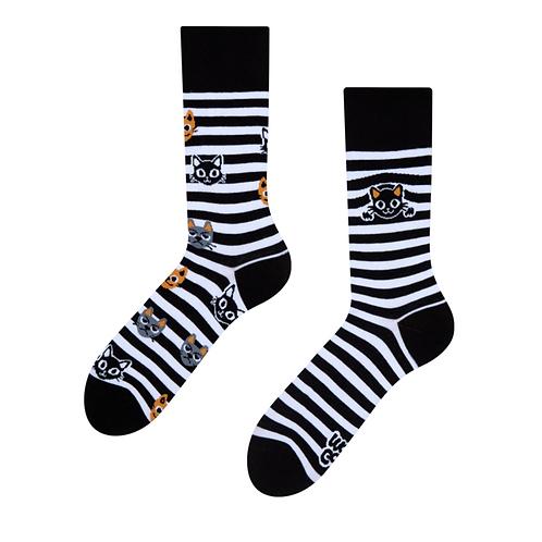 Mood Socks - Cats & Stripes