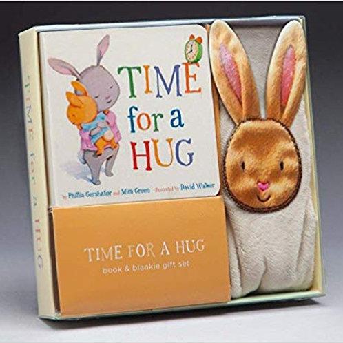 Time For A Hug Book & Blanket Gift Set