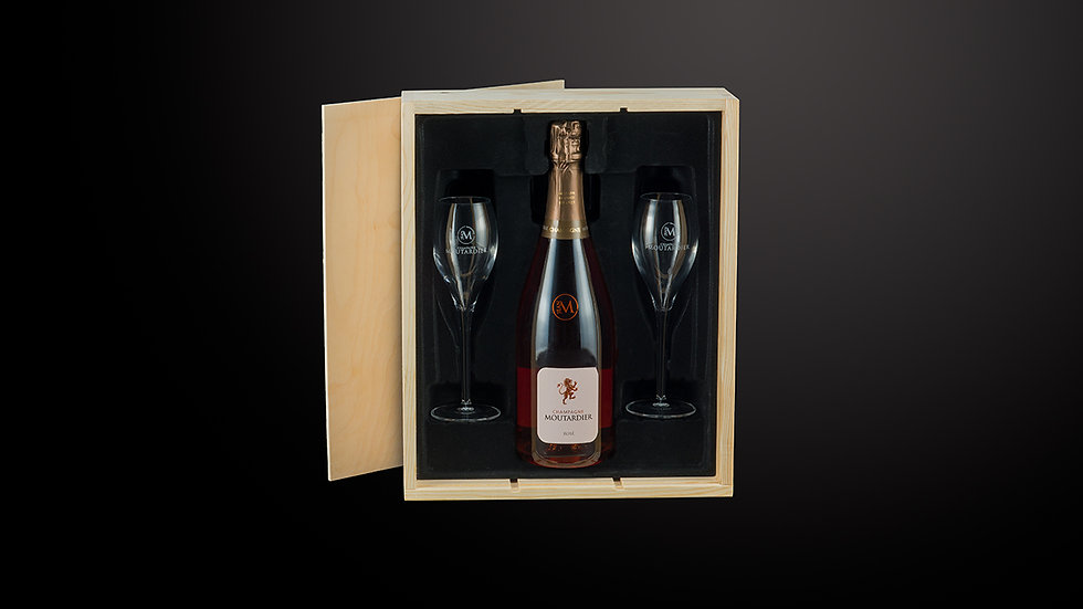 Luxe giftbox - Moutardier Cuvee Rosé Brut
