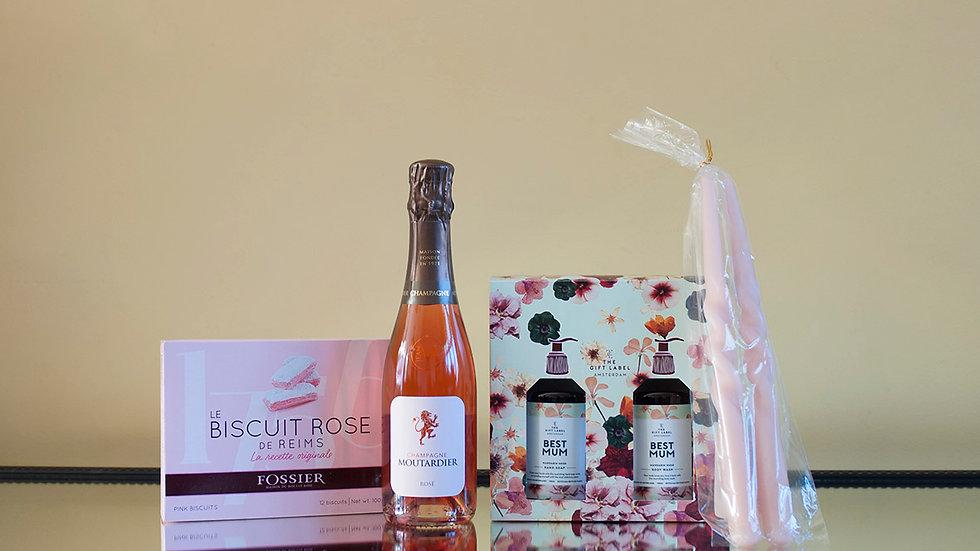 Moederdag geschenkpakket Rosé