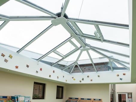 School Library Development with Lantern Roof