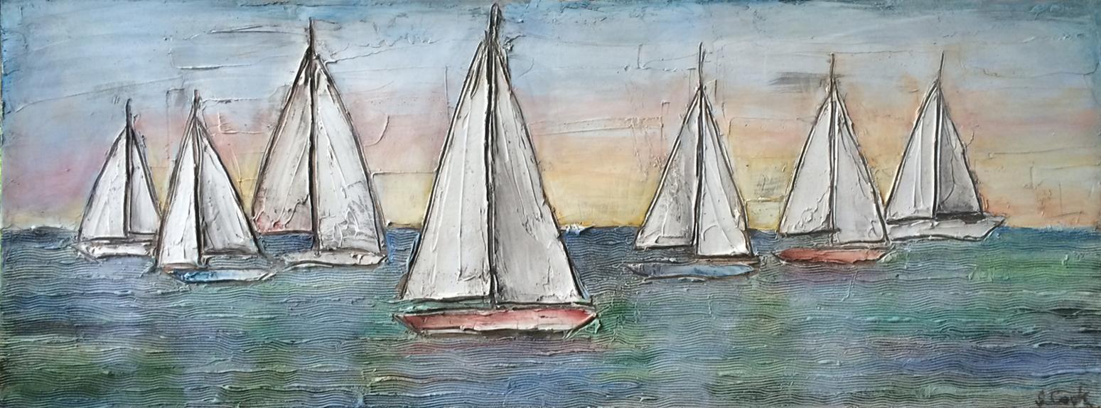 Early Morning Sail 48x18x2