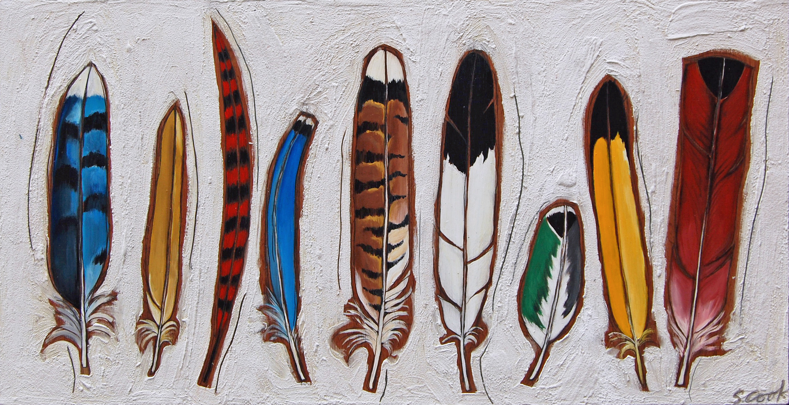 Feather Trail 48x26