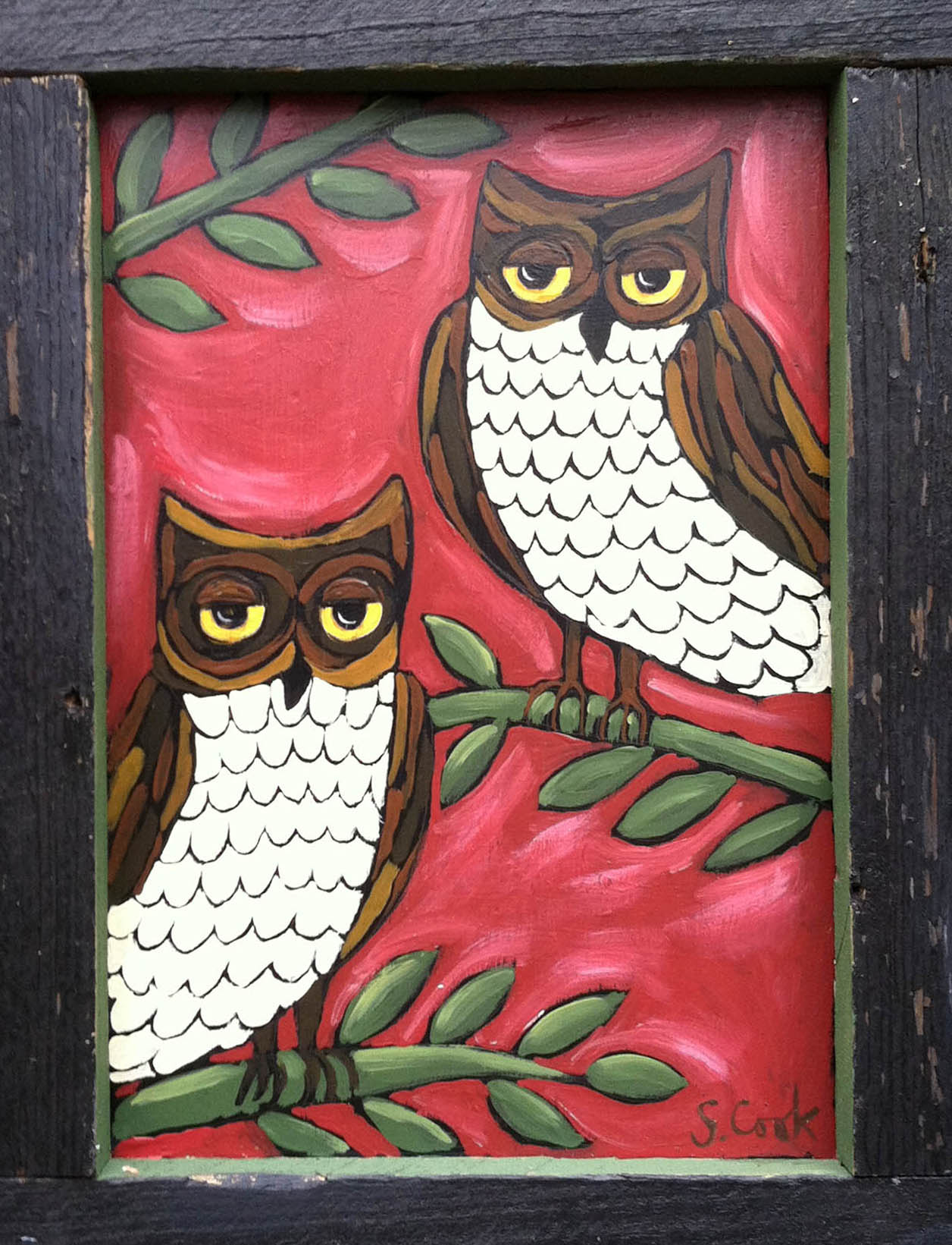 1 Owls on Red