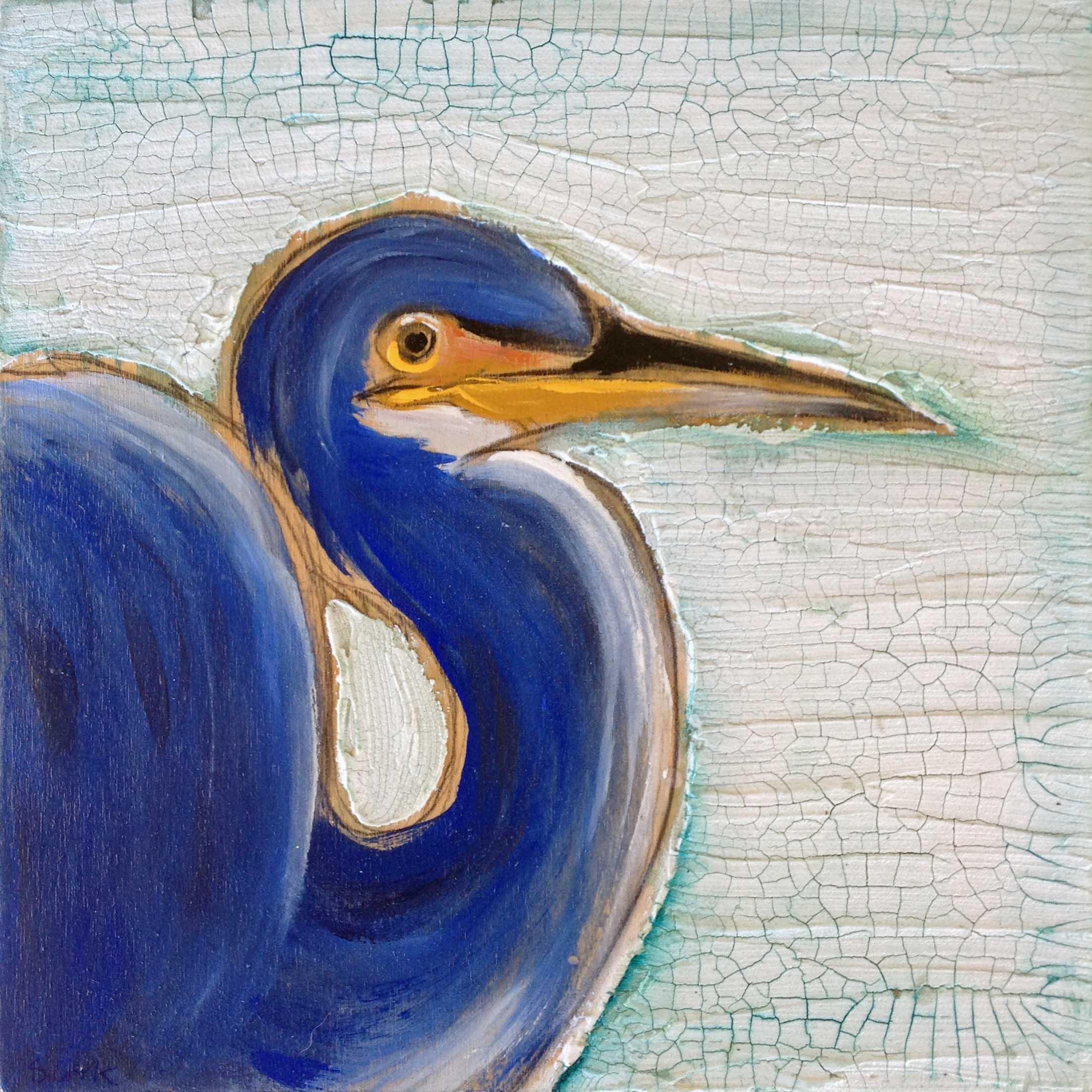 Blue Heron 12x12