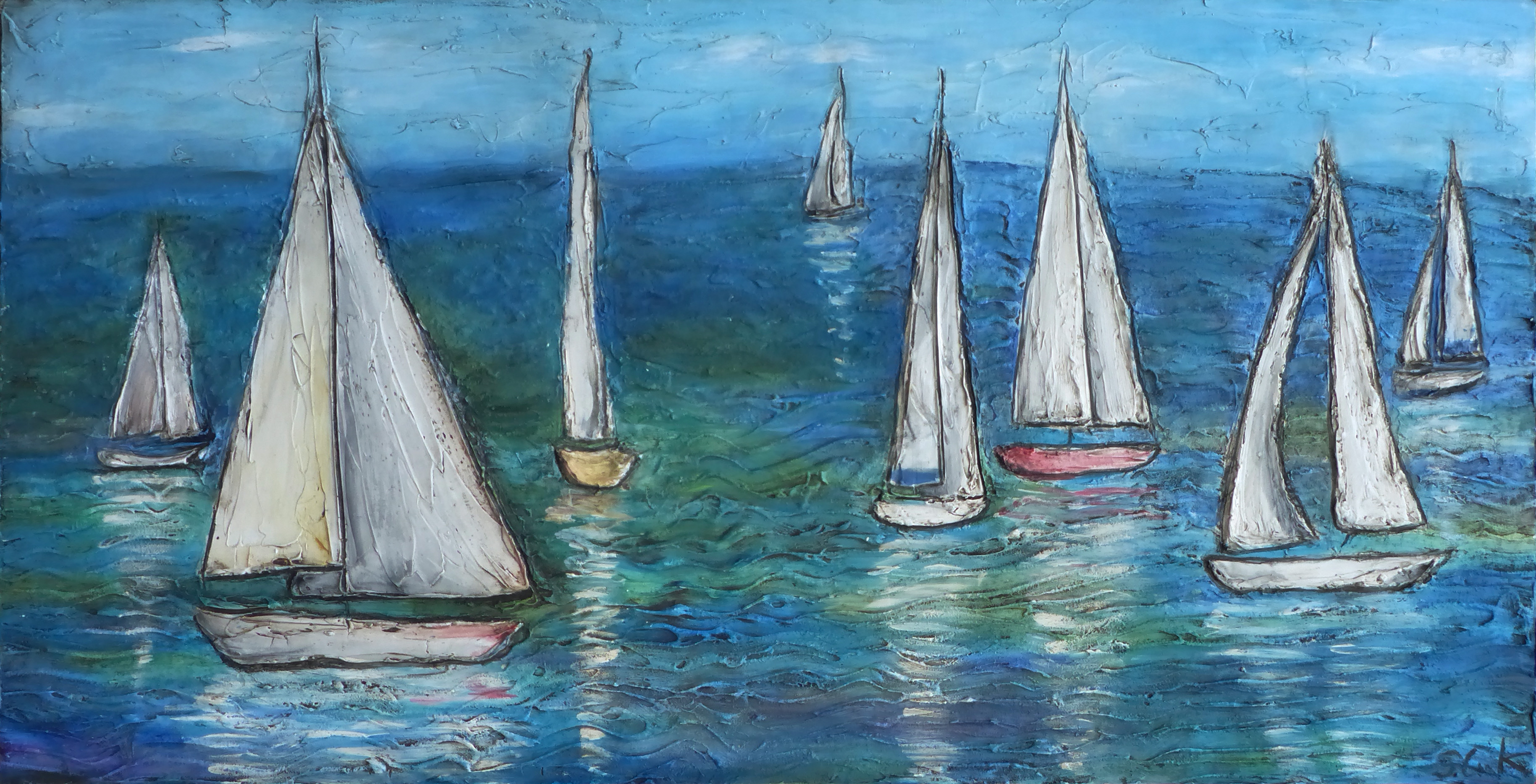 Sunday Sailing 24x48