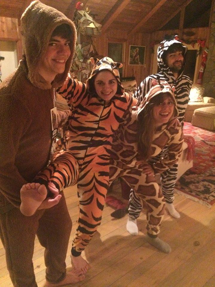 Kids in Christmas PJs