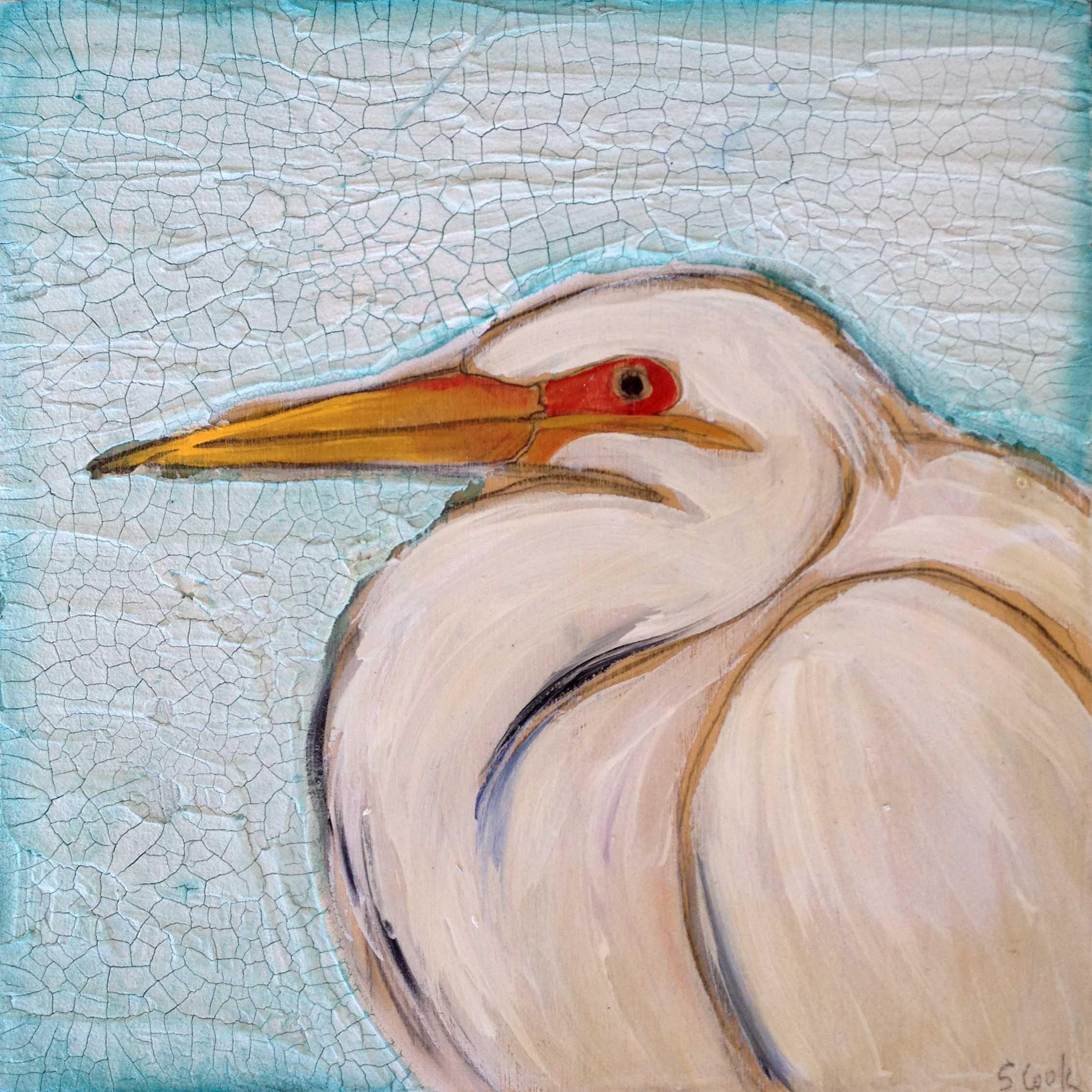 White Heron 12x12