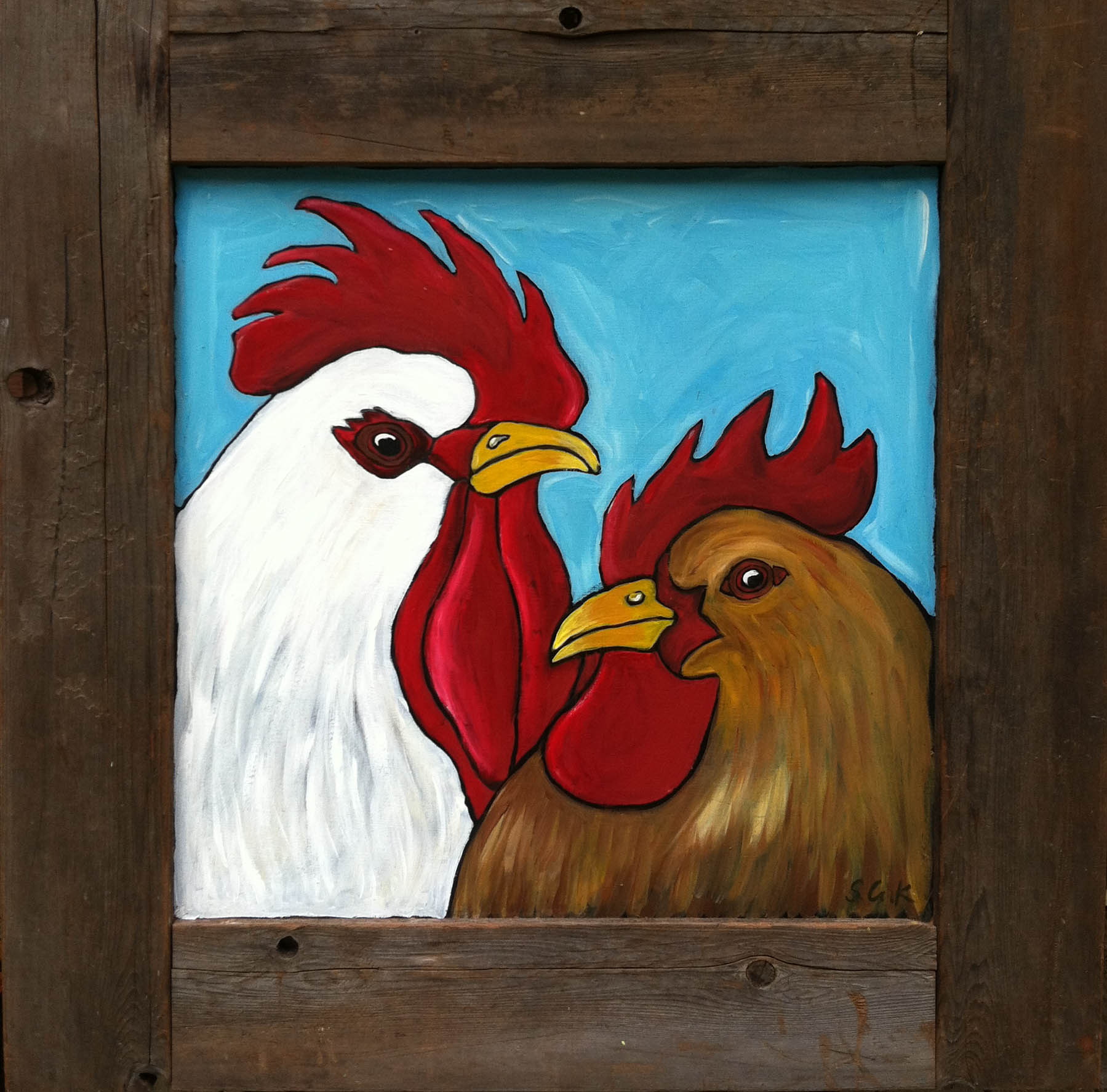 Roster and Hen 36x36