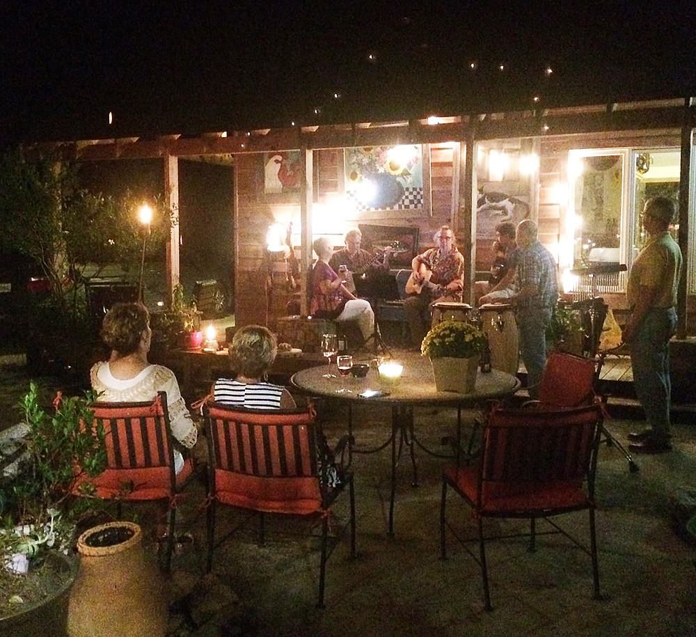 Front porch pickin' and singing
