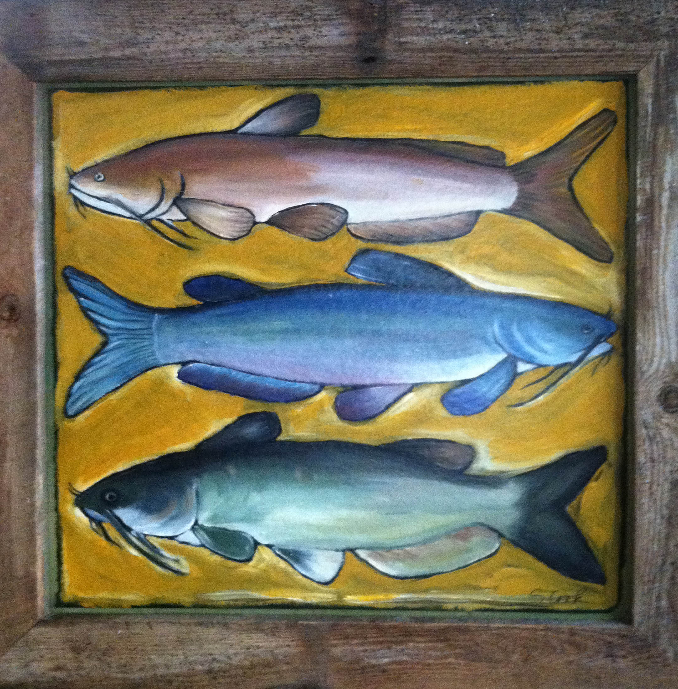 Three Catfish 36x36