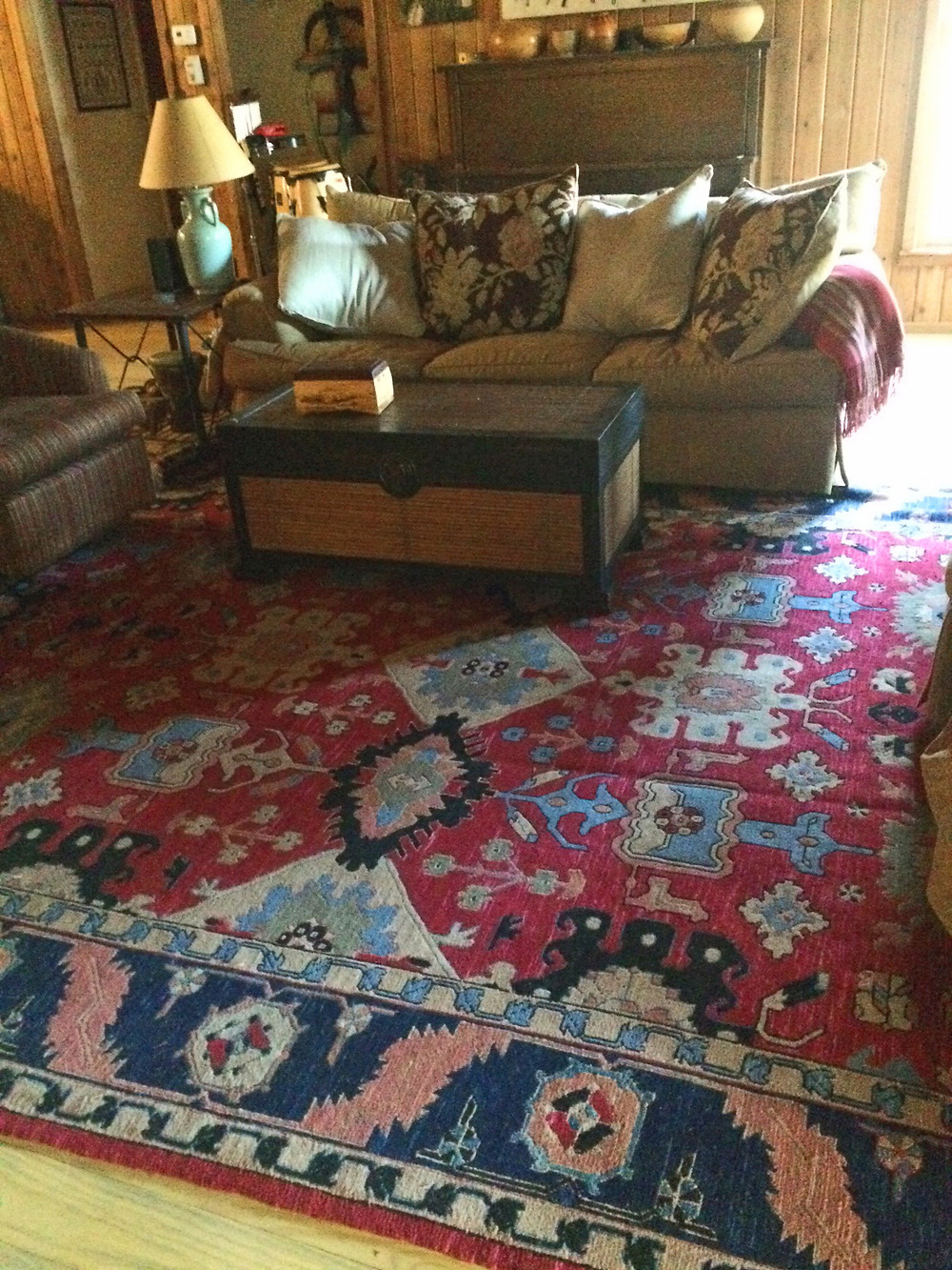 the rug!