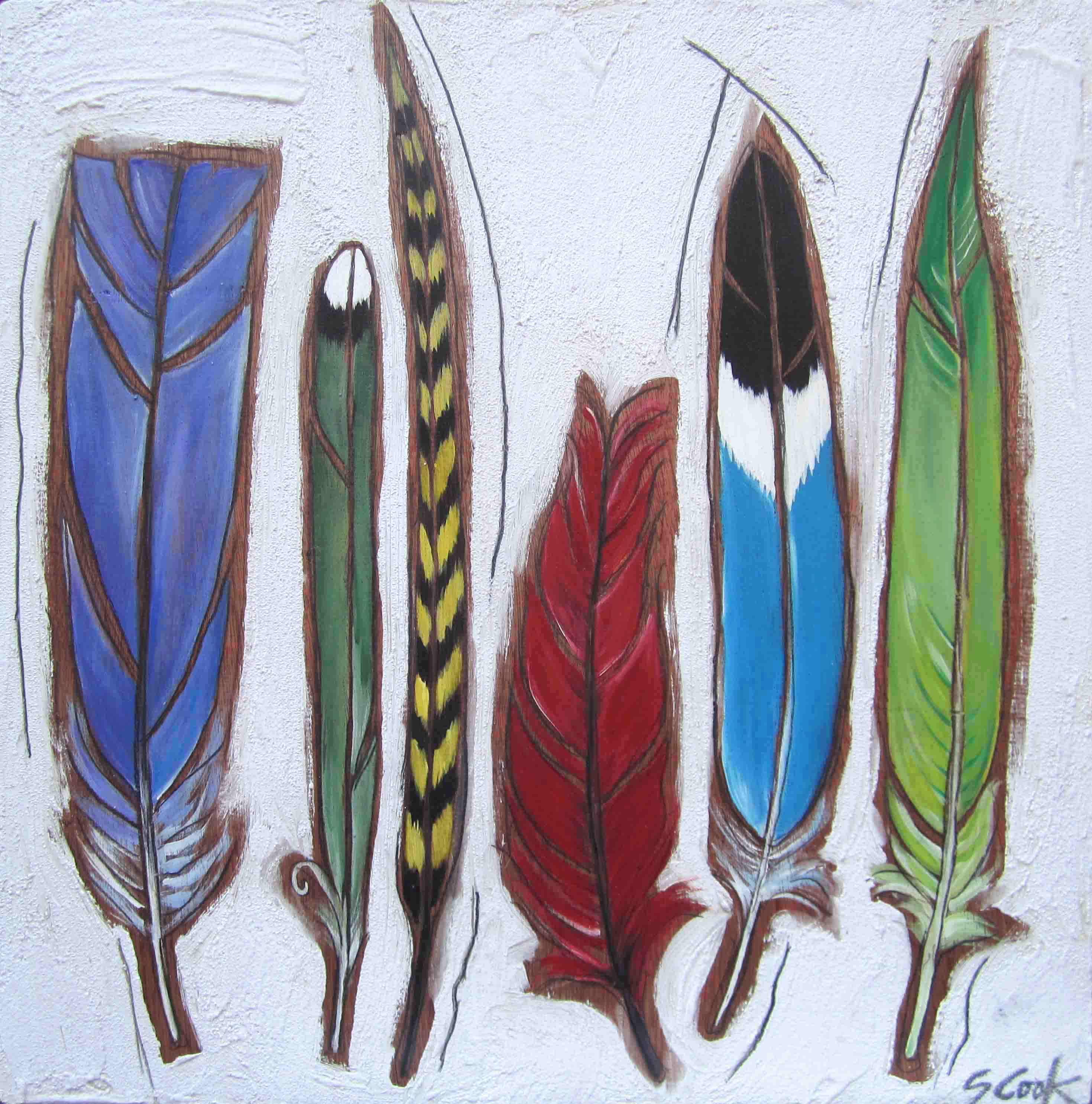 Feathers 1 24x24