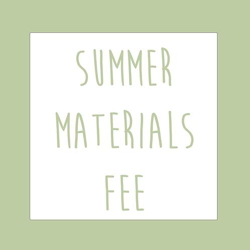 Summer Materials Fee