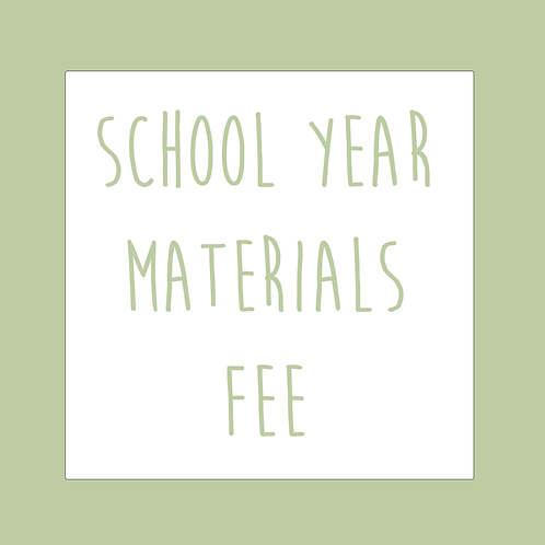 School Year Materials Fee
