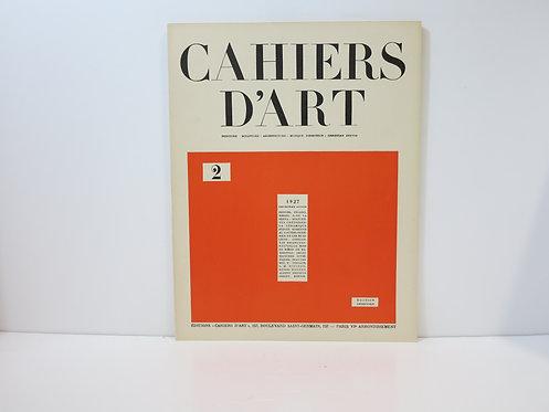 Cahiers d'Art 1927. Numéro 2