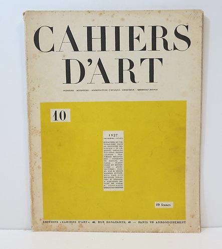 Cahiers d'Art. 1927. 10