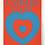 Thumbnail: Affiche Coeurs Volants Marcel Duchamp 1936. Grand format.